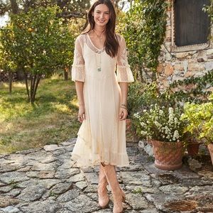 Sundance VISION IN LACE Ivory Lace Dress